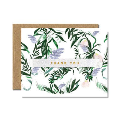 Foil french fern thank you card - Ferme à Papier