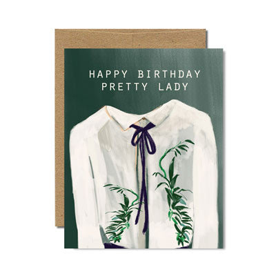 Pretty lady birthday card - Ferme à Papier