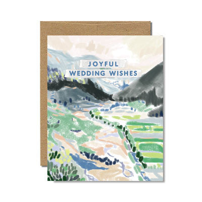 Provence wedding wishes card - Ferme à Papier