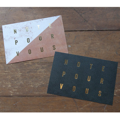 Notes pour vous - leather post cards - Ferme à Papier
