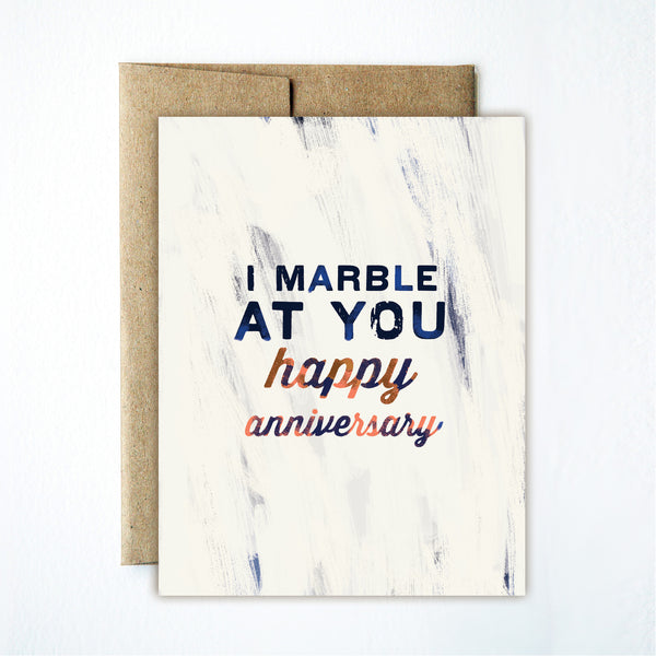 Marble at you anniversary card - Ferme à Papier