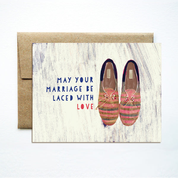 Summer shoes wedding card - Ferme à Papier