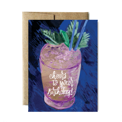 Cheers To Your Birthday Card Ferme Papier