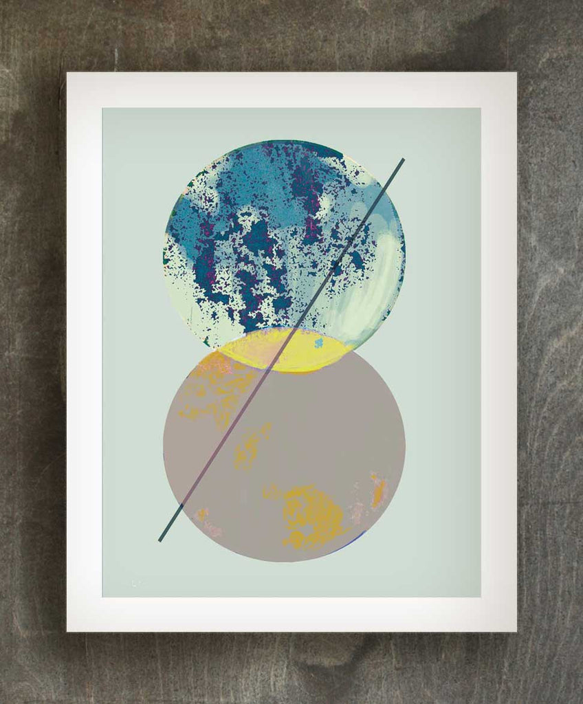 Cosmic Earth art print - Ferme à Papier
