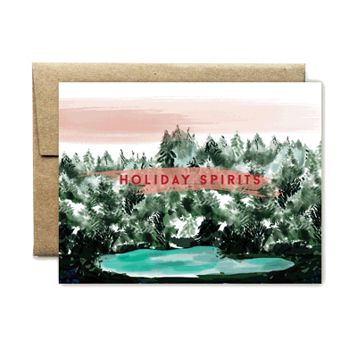 Spirit lake holidays card