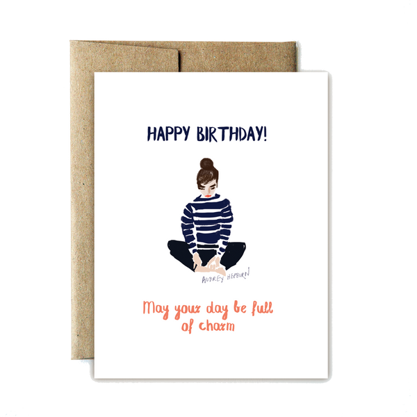 Charming birthday card