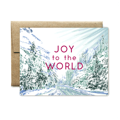 Joy to the world landscape card