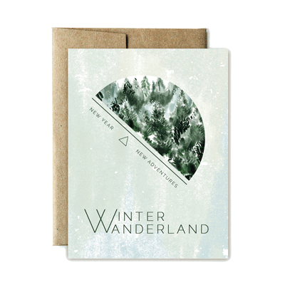 Winter wanderland card