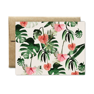 Anthurium flowers card
