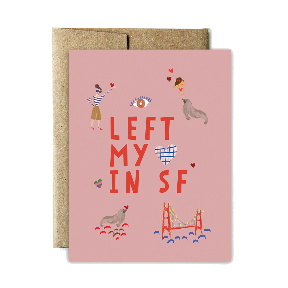Left my heart in SF card