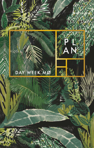 Green Palms year-less planner - Ferme à Papier  - 1