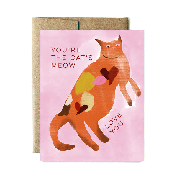You're the cat's meow card