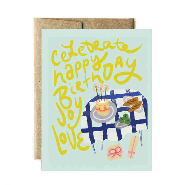 Celebrate table birthday card