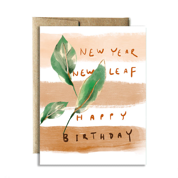 New leaf birthday card