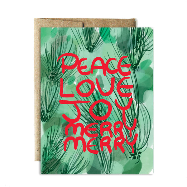 Peace love merry merry card