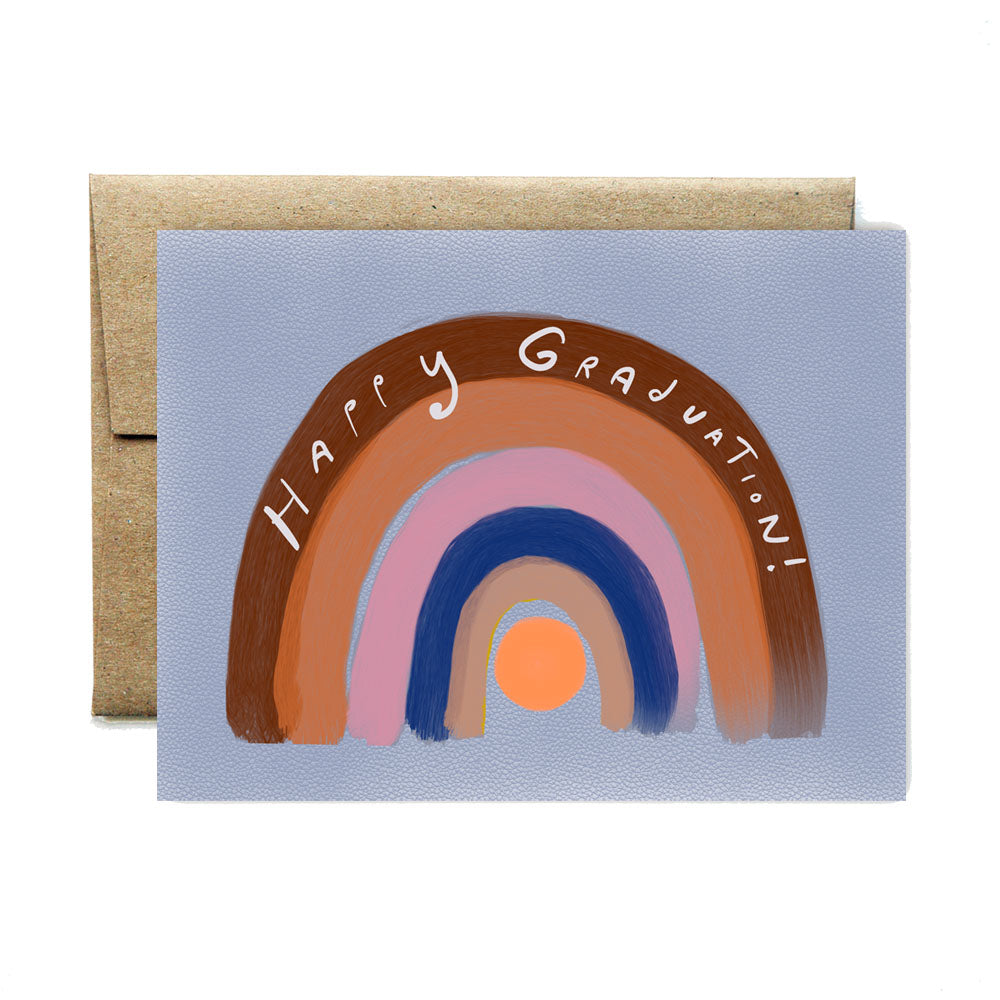 Rainbow graduation card
