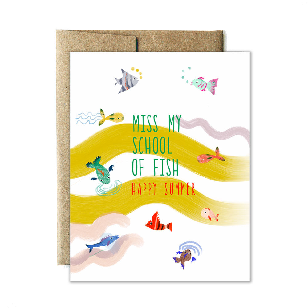 School of fish card