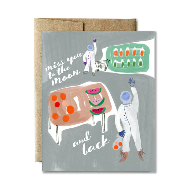 Miss you astronauts card