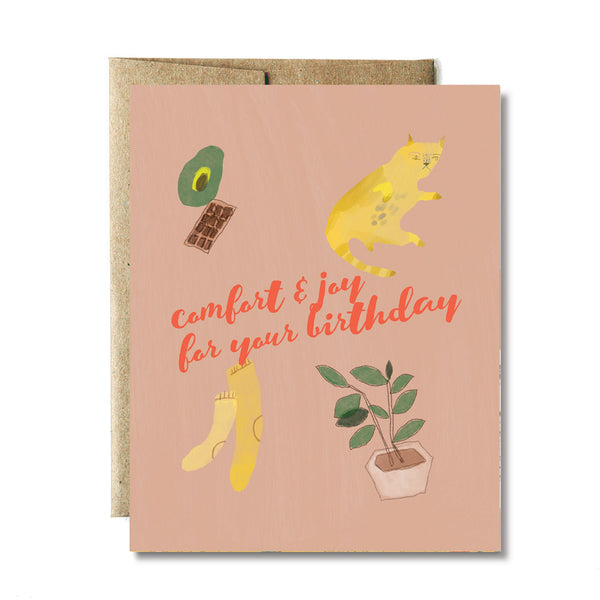 Comfort and joy birthday card