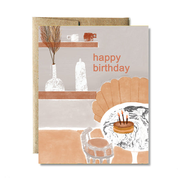 Neutral room birthday card