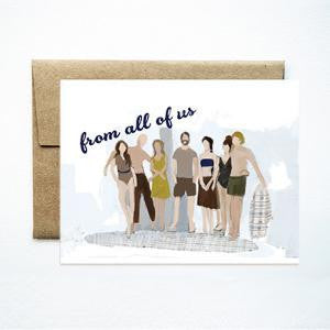 From all of us card - Ferme à Papier