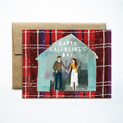 Barn couple valentines card - Ferme à Papier