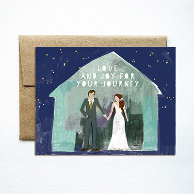 Barn couple wedding card - Ferme à Papier