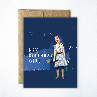 Hey birthday girl card - Ferme à Papier