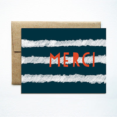 Stripes merci card - Ferme à Papier