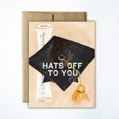 Graduation hat card - Ferme à Papier
