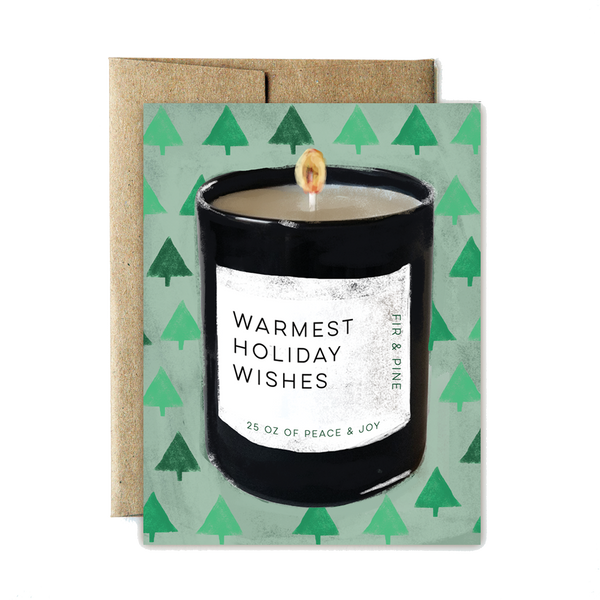 Candle holiday wishes set