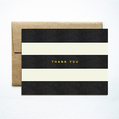 Foil stripes thank you card - Ferme à Papier