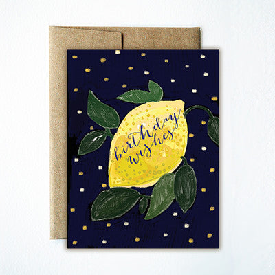 Lemon birthday card - Ferme à Papier
