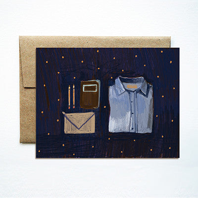 Denim shirt card - Ferme à Papier