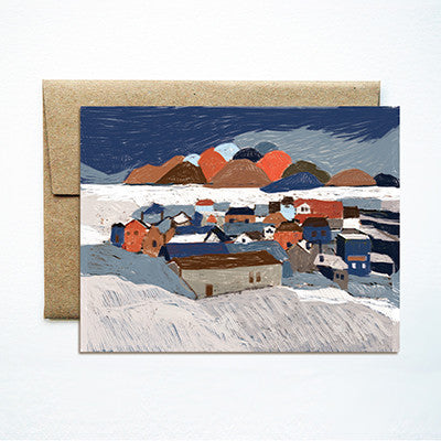 Winter landscape card - Ferme à Papier
