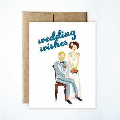 Wedding couple card - Ferme à Papier