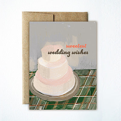 Wedding cake card - Ferme à Papier
