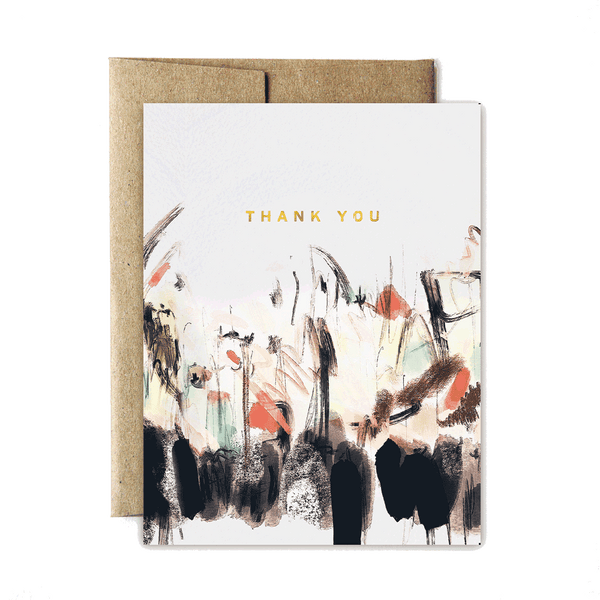 Foil abstract sunset thank you set