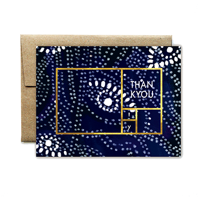 foil rectangle navy gaze TU card - Ferme à Papier
