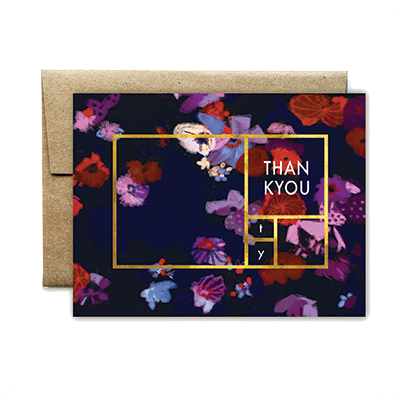 foil rectangle purple floral TU boxed set - Ferme à Papier