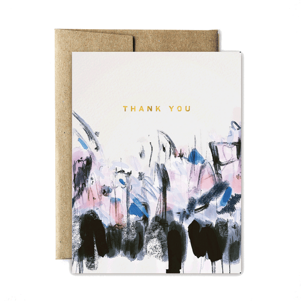 Foil abstract sunrise thank you set