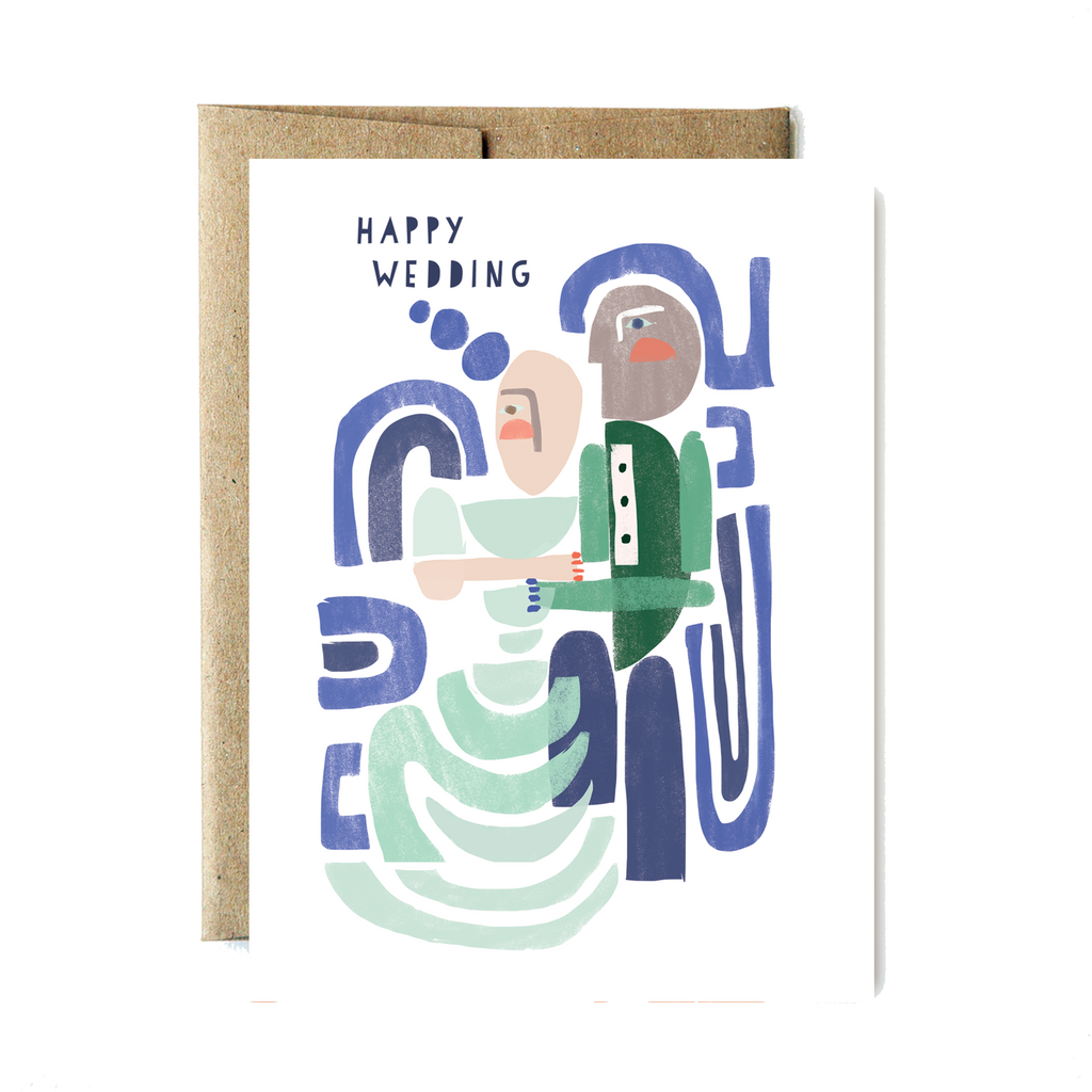 Shapes happy wedding card - Ferme à Papier