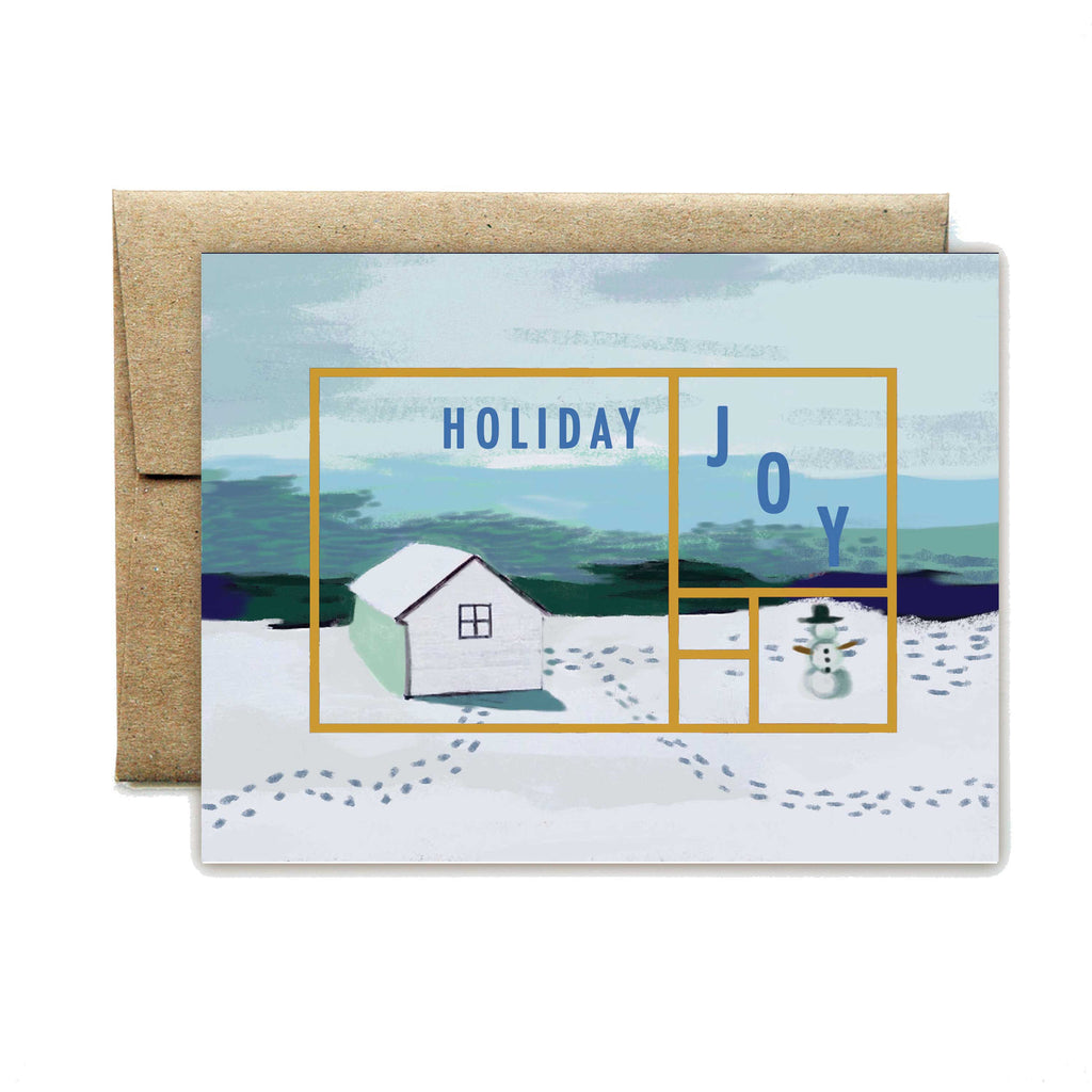 Foil Rectangle Holiday Cabin Boxed Set - Ferme à Papier