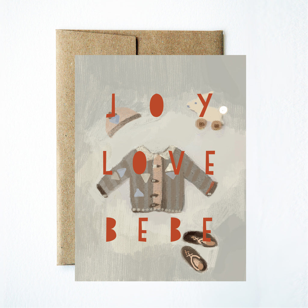 Joy love bebe card - Ferme à Papier