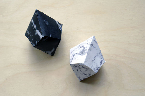 Black and white marble geode kit - Ferme à Papier  - 1
