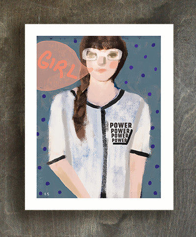 Girl power art print - Ferme à Papier