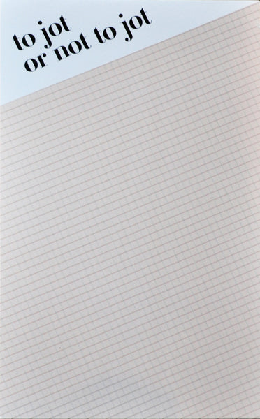 Jot or not to jot - nude grid notepad - Ferme à Papier