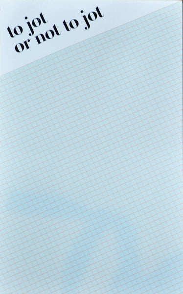 Jot or not to jot - mint grid notepad - Ferme à Papier