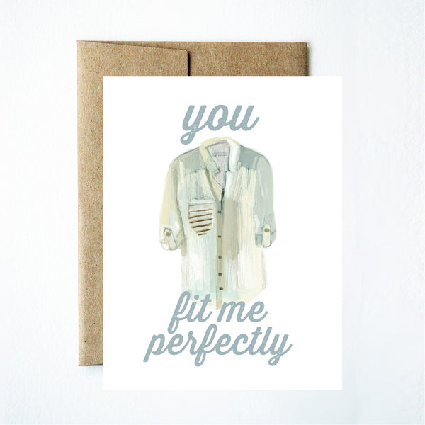You fit me perfectly card - Ferme à Papier