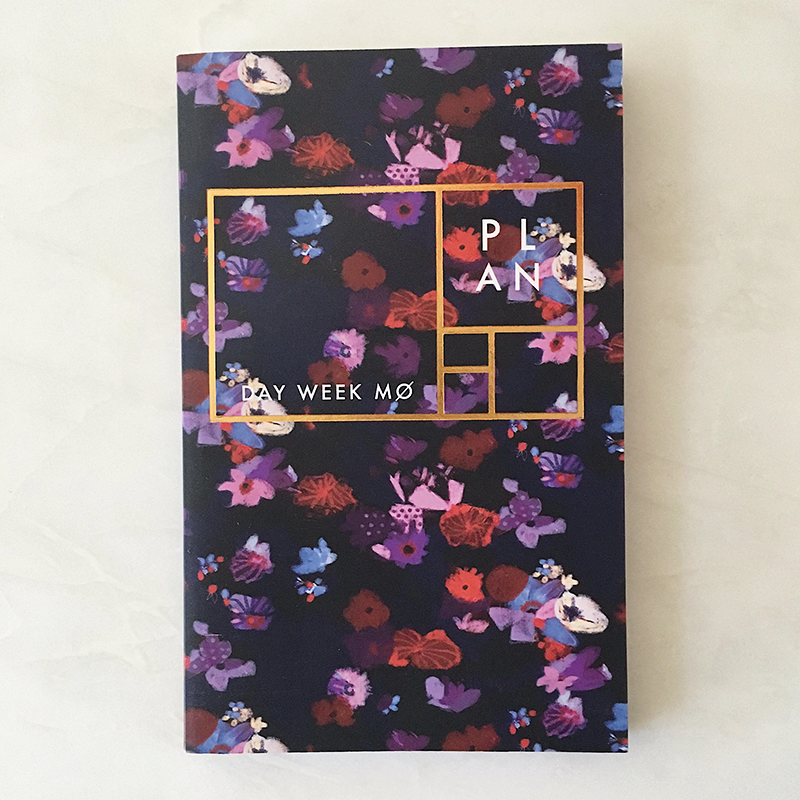 Purple floral year-less planner